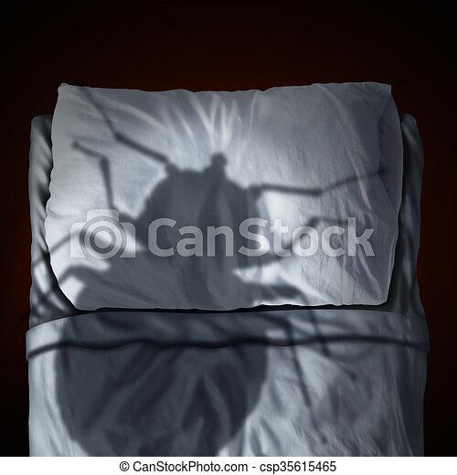 Bed Bug Fear - csp35615465