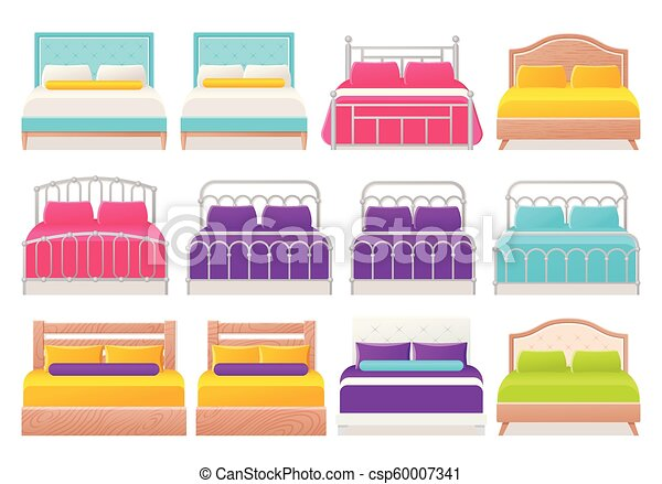 Bed icon in flat design. Vector cartoon illustration. Icons Design House Beds on bed lifters, bed texture, bed desktop, bed seat cushion, bed on beach, bed bolsters, bed people, bed queen, bed on stilts, bed cooler, bed bunker, bed railing, bed for disabled at home,