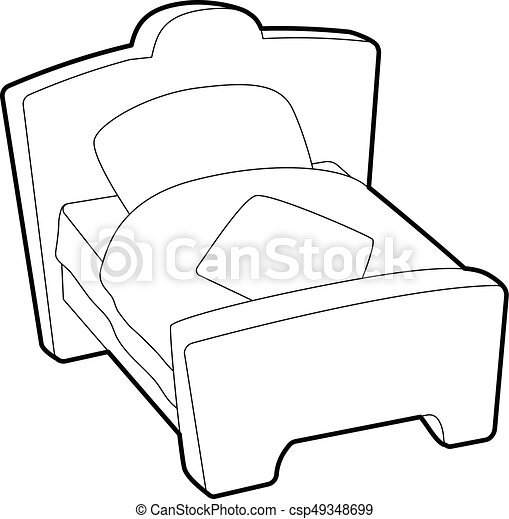 bed icon outline style bed icon outline illustration of bed rh canstockphoto ie