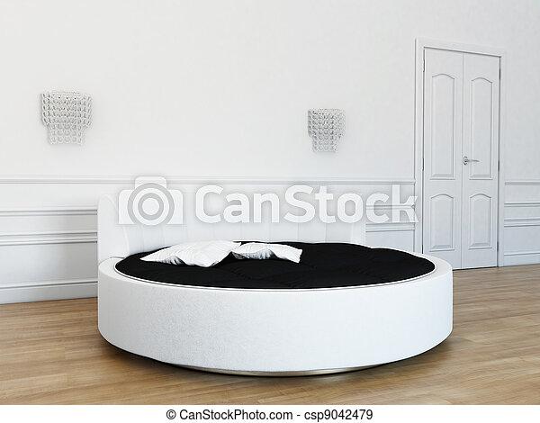 bed in the bedroom - csp9042479