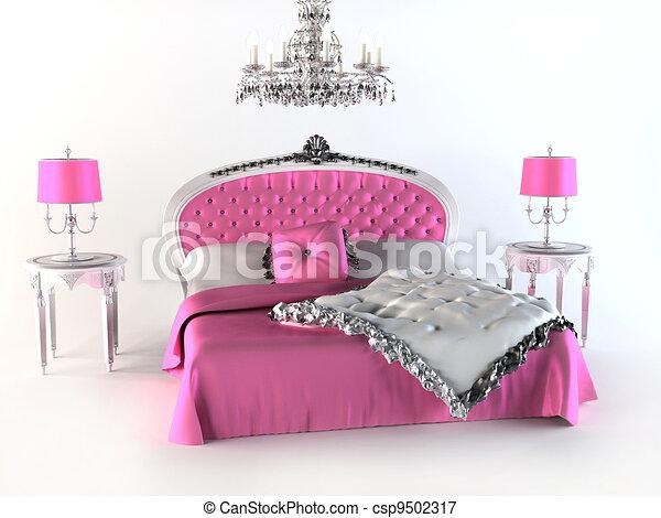 stock illustrationen von bed luxus schalfzimmer. Black Bedroom Furniture Sets. Home Design Ideas