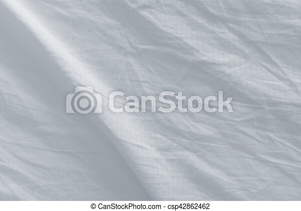 Bed Sheets After Sleep, Top View Texture   Csp42862462