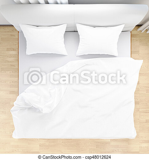 Bed Sheets And Pillows Messed Up After Nights Sleep ,comfort And Bedding In  Hotel Room,, 3d