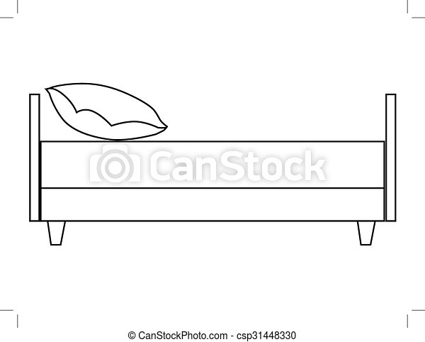 bed, side view - csp31448330