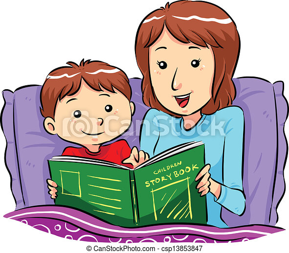 Bed Time Story - csp13853847