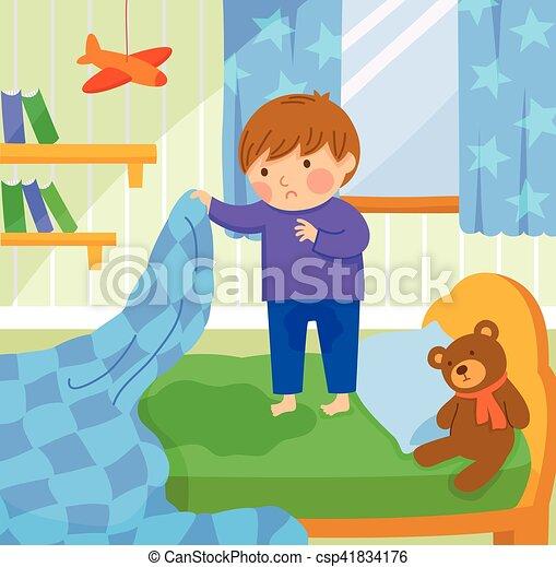 bed wetting - csp41834176