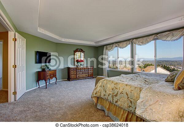 Bedding ściany Pan Sypialnia Kwiatowy Zielony Gabinet Marność