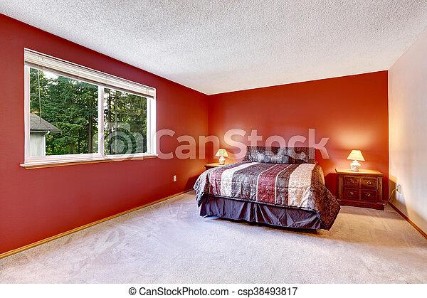 Bedding., coloré, plancher, clair, beige, chambre à coucher ...