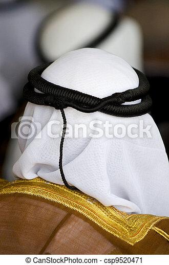 Bedouin Arab Men - Traditional Kufeyas - csp9520471