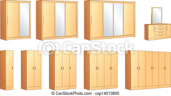 Bedroom Furniture Wardrobes Commode Vector