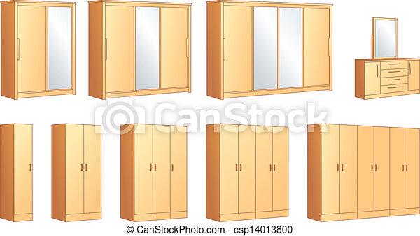 Bedroom Furniture Wardrobes Commode Vector