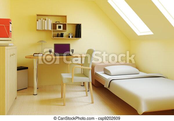 Bedroom in attic or loft & Bedroom in attic or loft .