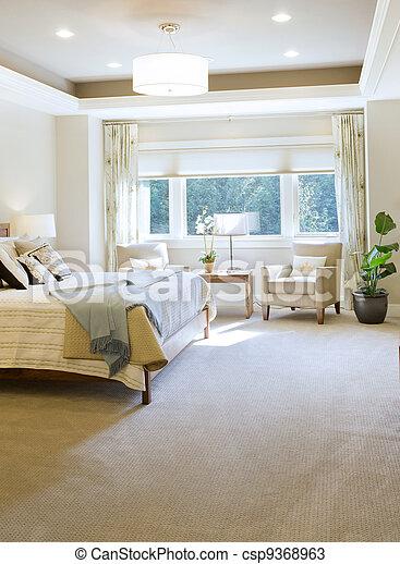 Bedroom in New Home - csp9368963