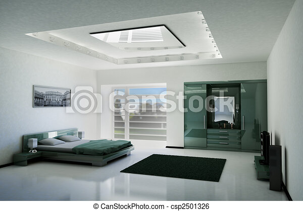 bedroom interior 3d - csp2501326