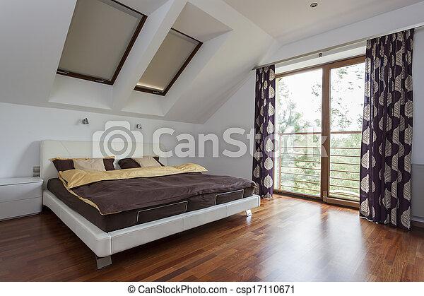 Bedroom with balcony - csp17110671