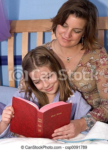 Bedtime Bible Story2 - csp0091789