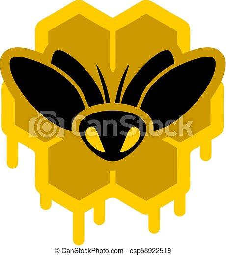 Creative Design Of Bee And Honey Symbol