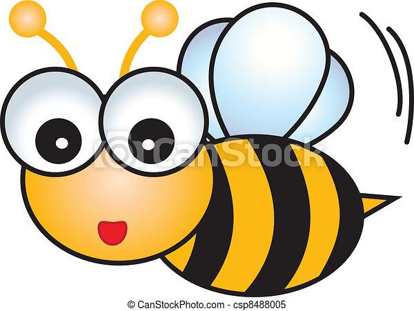 Bee Cartoon Character - csp8488005