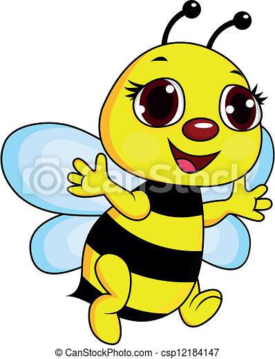 Bee cartoon - csp12184147