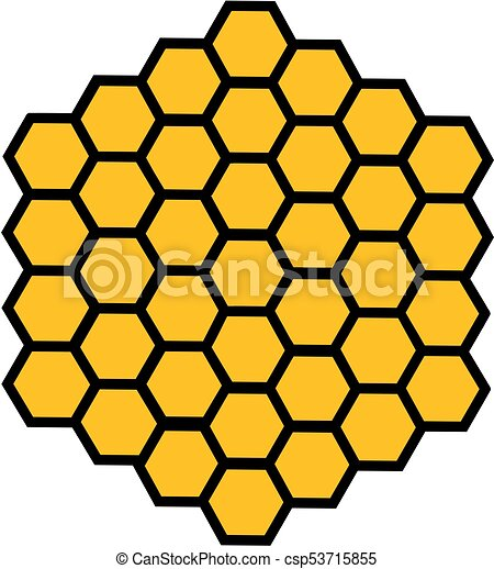 bee honeycomb honey bee honeycomb with honey in a hexagon clipart rh canstockphoto ca honeycomb vector graphics honeycomb vector pattern free
