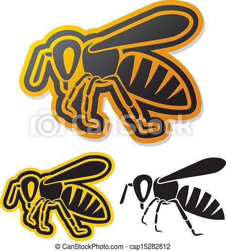 bee icon (honey bee) - csp15282812