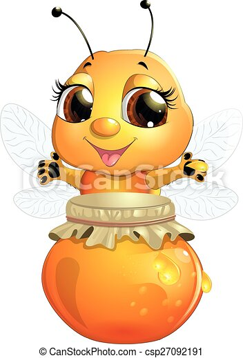 bee on a white background - csp27092191