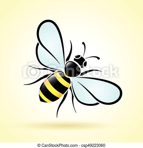 bee on white background - csp49223060