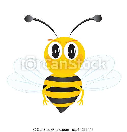 Bee on white background - csp11258445