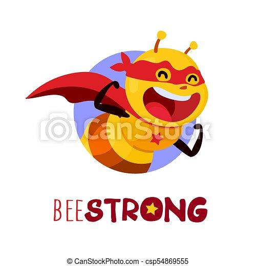 Bee Strong, vector - csp54869555