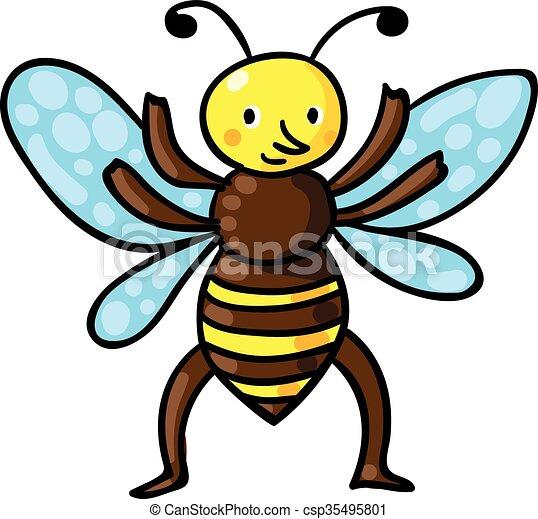 bee vector illustration bee color vector illustration vector rh canstockphoto com bee vector drawing bee vectoring