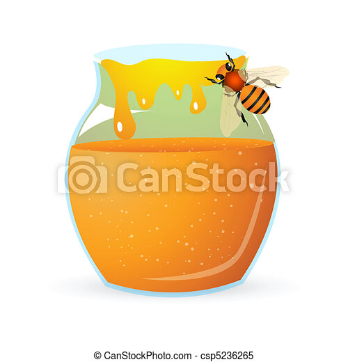 bee with honey - csp5236265