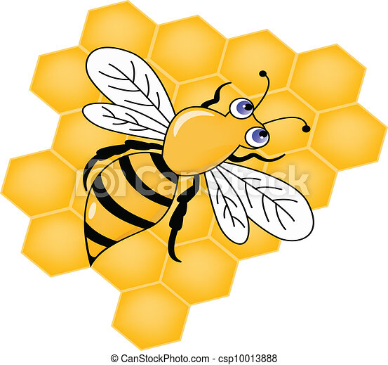 Bee with Honey - csp10013888