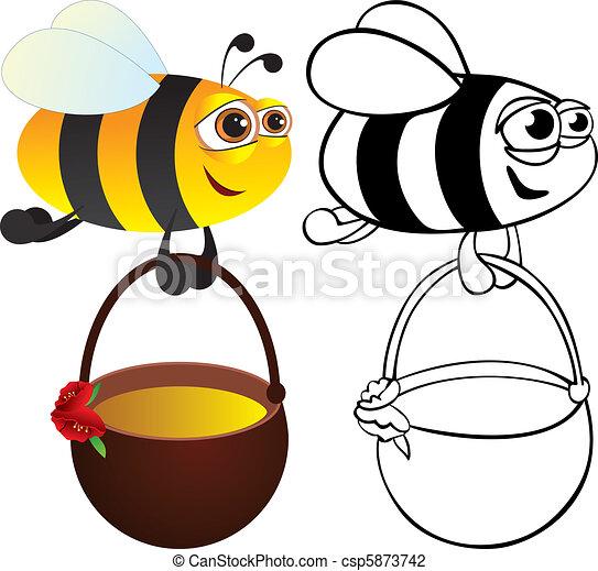 Bee with honey - csp5873742