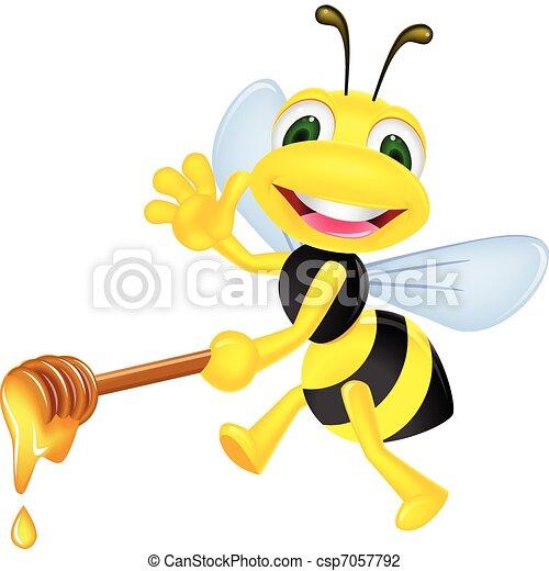 Bee with honey - csp7057792