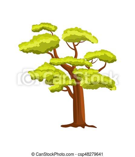 Beech green tree vector icon - csp48279641