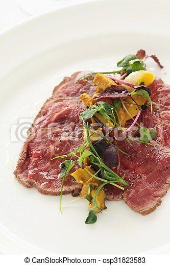 beef carpaccio - csp31823583