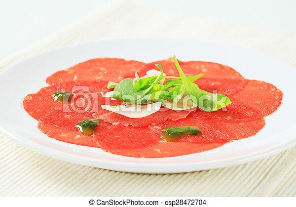 Beef Carpaccio - csp28472704