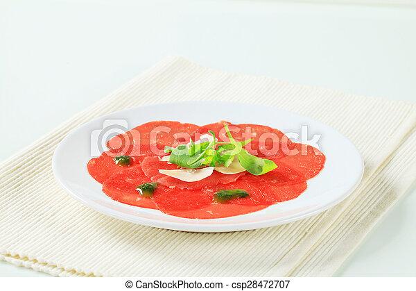 Beef Carpaccio - csp28472707