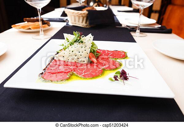 Beef carpaccio with salad - csp51203424