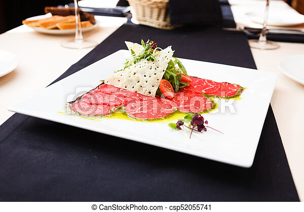 Beef carpaccio with salad - csp52055741