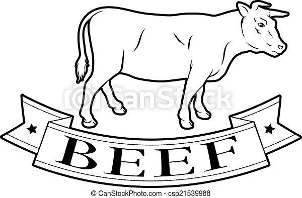 Beef food label - csp21539988