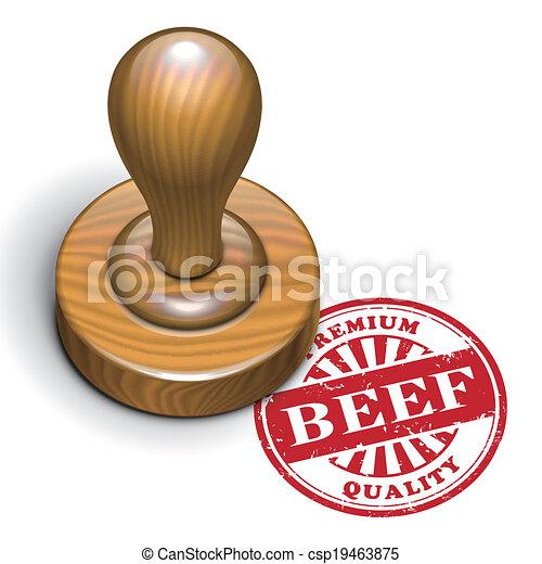 beef grunge rubber stamp - csp19463875