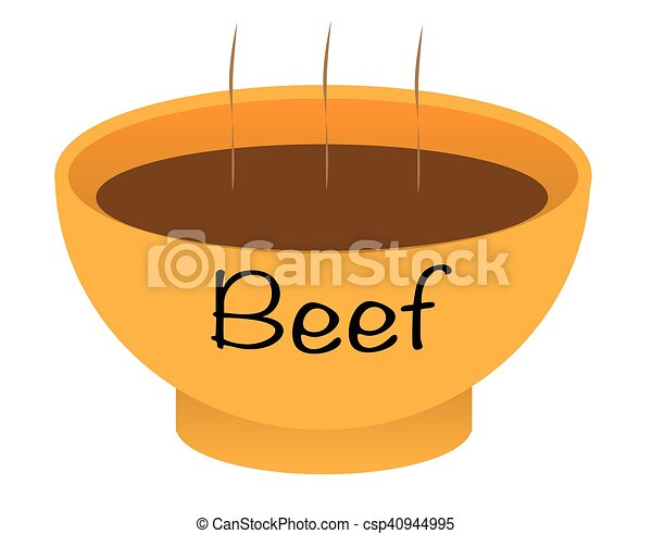 Beef Soup Bowl - csp40944995