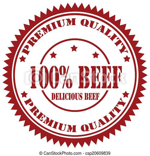 Beef-stamp - csp20609839