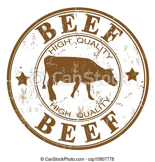 Beef stamp - csp15807778