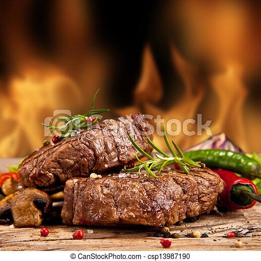 Beef steak - csp13987190