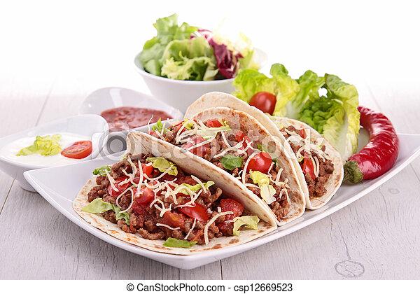 beef taco - csp12669523