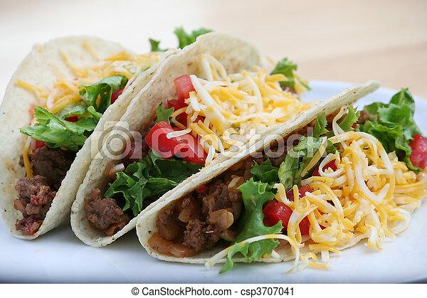 Beef Tacos - csp3707041