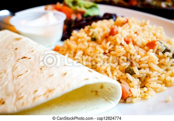 beef tacos served - csp12824774
