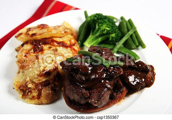 Beef tournedos dinner - csp1350367
